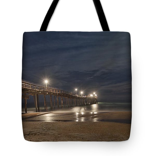 Avon Pier At Night Tote Bag
