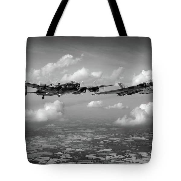 Tote Bag featuring the photograph Avro Sisters Bw Version by Gary Eason