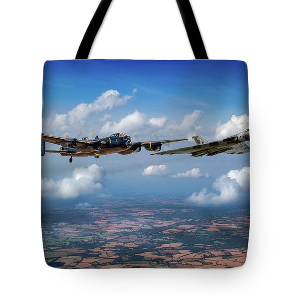 Tote Bag featuring the photograph Avro Sisters  by Gary Eason