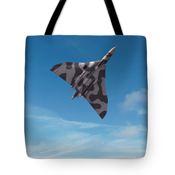 Tote Bag featuring the digital art Avro Vulcan -1 by Paul Gulliver