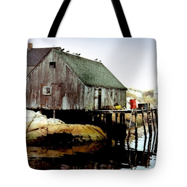 Awaiting The Catch Tote Bag