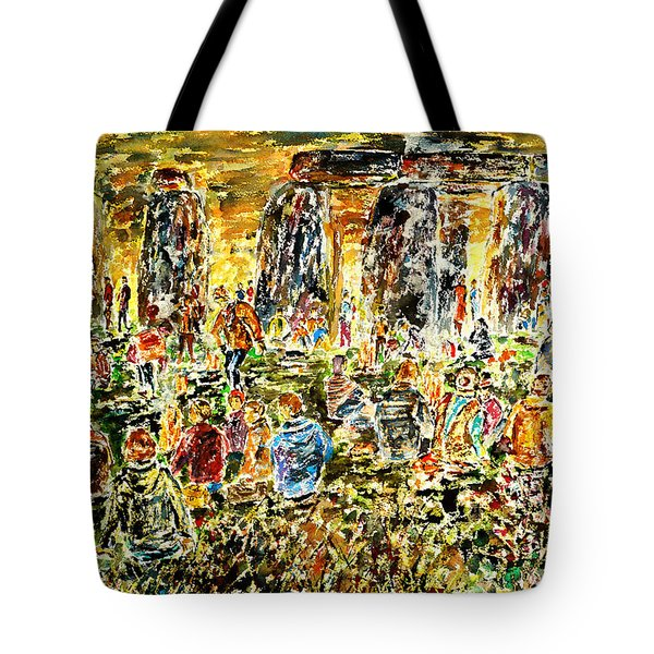 Tote Bag featuring the painting Awaiting The Sun by Alfred Motzer
