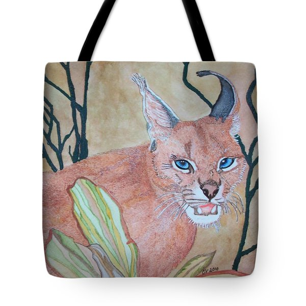 Tote Bag featuring the painting Awaiting Your  Mistake by Connie Valasco