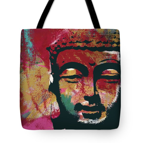 Awakened Buddha 4- Art By Linda Woods Tote Bag