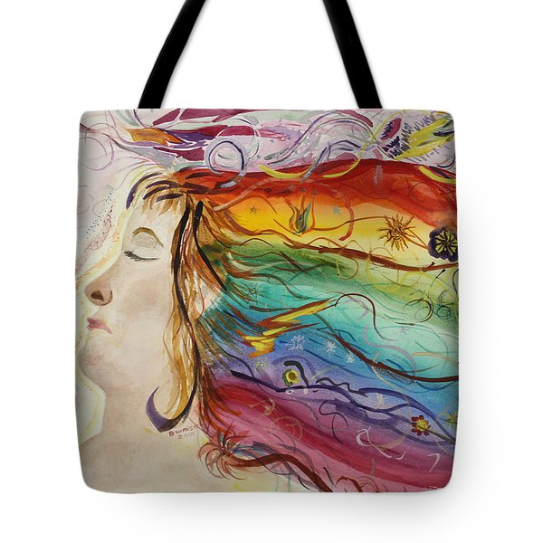 Tote Bag featuring the painting Awakening Consciousness by Donna Walsh