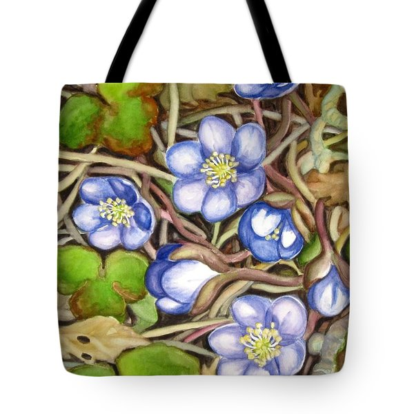 Awakening Of The Wild Anemone  Tote Bag by Inese Poga