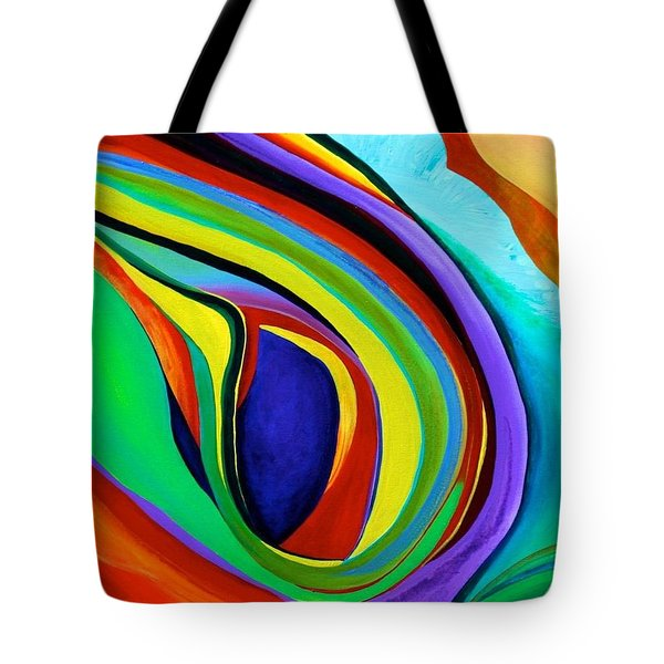 Tote Bag featuring the painting Awakening by Polly Castor