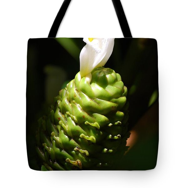 Tote Bag featuring the photograph Awapuhi Plant by Debbie Karnes
