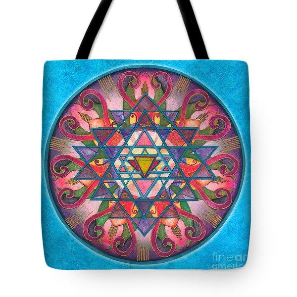 Awareness Mandala Tote Bag