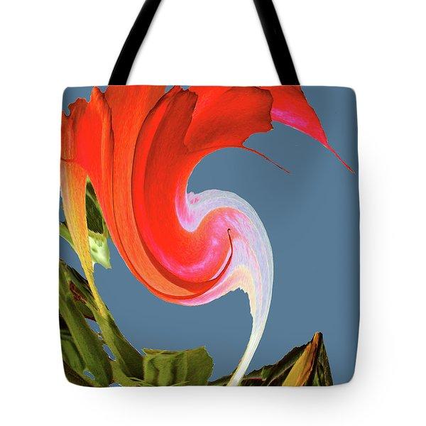 Tote Bag featuring the digital art Away We Go - Digital Art by Merton Allen