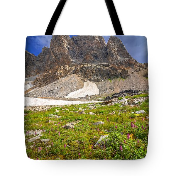 Tote Bag featuring the photograph Awe Inspring Grand Teton Landscape by Serge Skiba