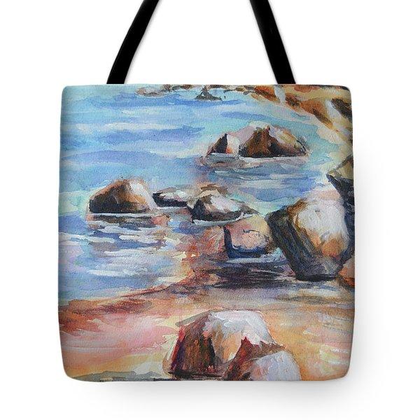 Awenda Shore Tote Bag by Heather Kertzer