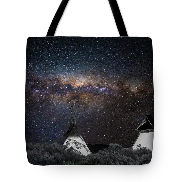 Awesome Skies Tote Bag by Carolyn Dalessandro