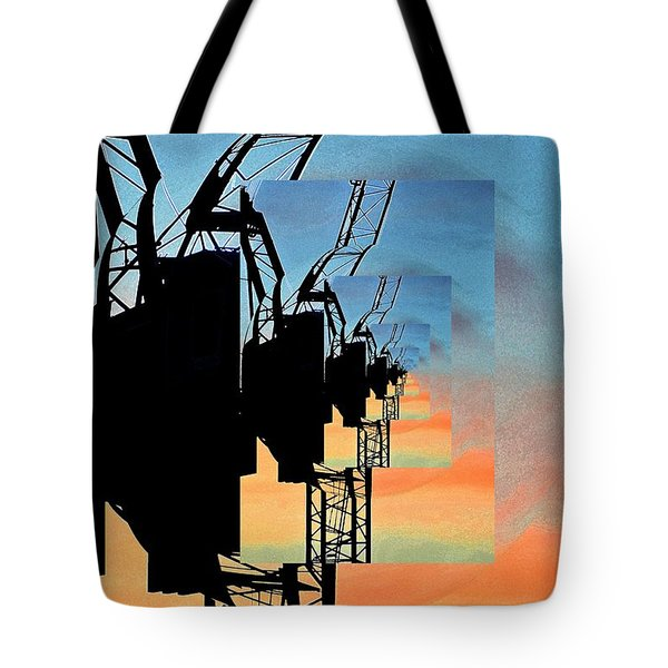 Awkward Geometry 6  Tote Bag by Lyle Crump