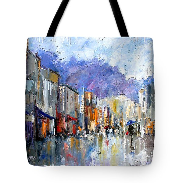Awnings Tote Bag by Debra Hurd