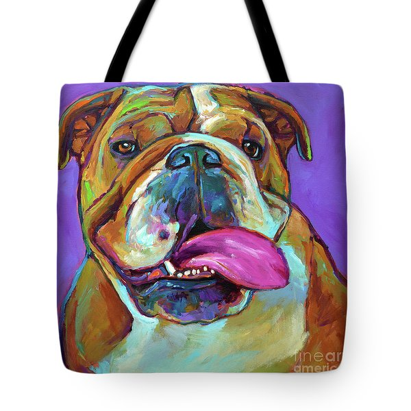 Tote Bag featuring the painting Axl by Robert Phelps