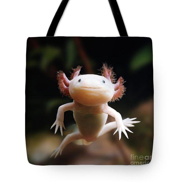 Axolotl Face Tote Bag