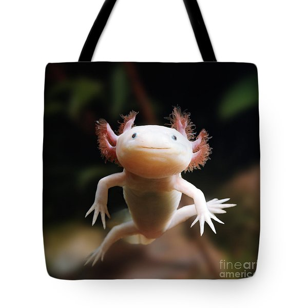 Axolotl Face Tote Bag