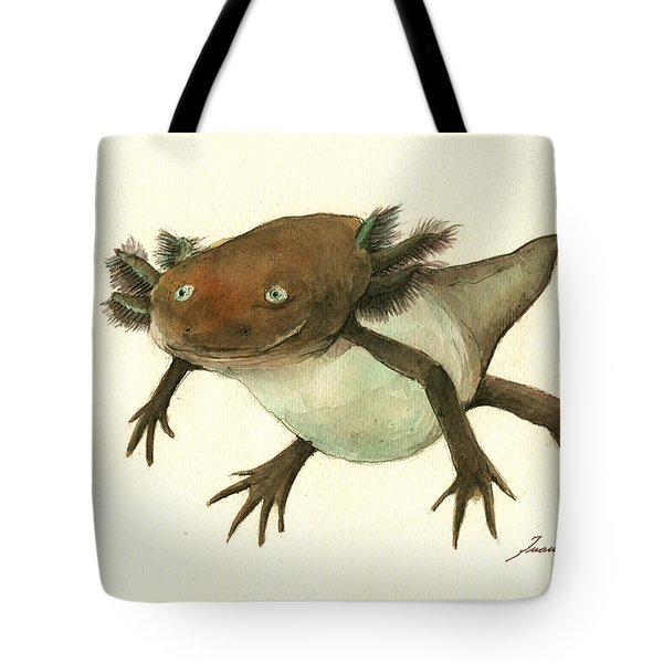Axolotl Tote Bag by Juan Bosco