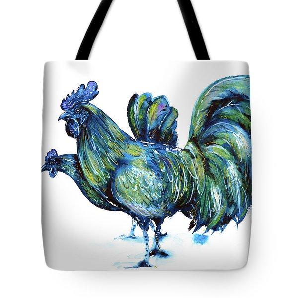 Ayam Cemani Pair Tote Bag by Zaira Dzhaubaeva