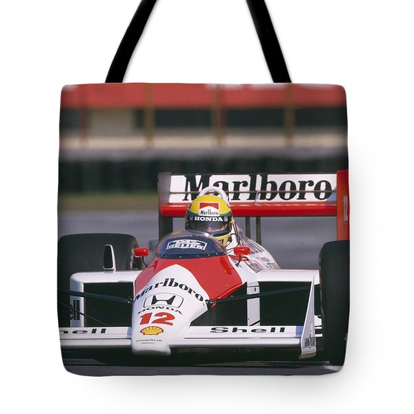 Ayrton Senna. 1988 Mexican Grand Prix Tote Bag