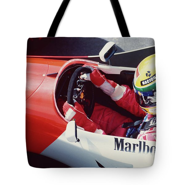 Ayrton Senna. 1993 Spanish Grand Prix Tote Bag