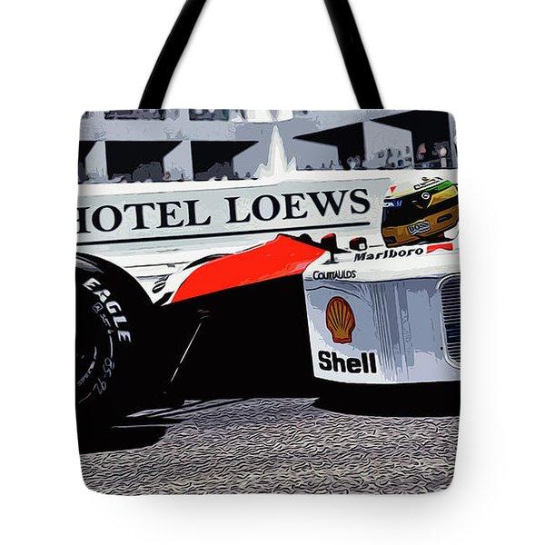 Ayrton Senna - Montecarlo Tote Bag