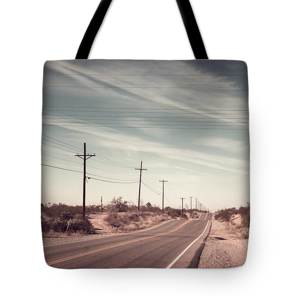 Tote Bag featuring the photograph Az Highway by Joseph Westrupp
