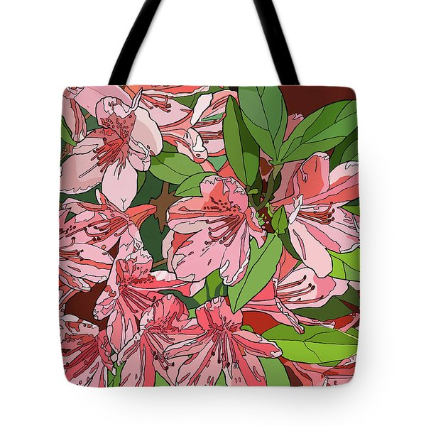 Azalea Bunch Tote Bag by Jamie Downs