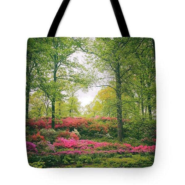 Azalea Hillside Tote Bag by Jessica Jenney