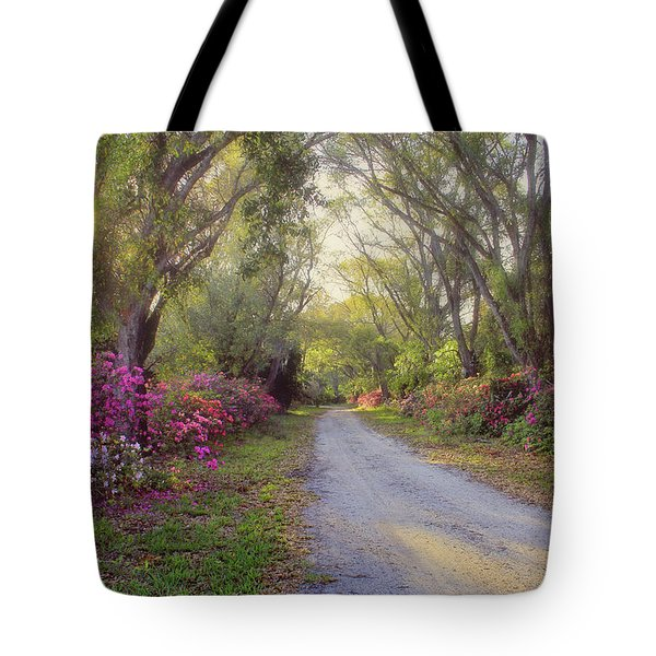Azalea Lane By H H Photography Of Florida Tote Bag