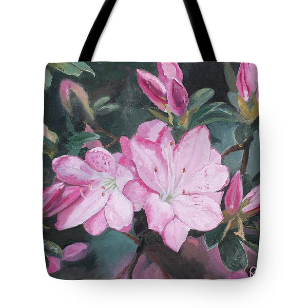 Azalea Tote Bag by Rachel Hames