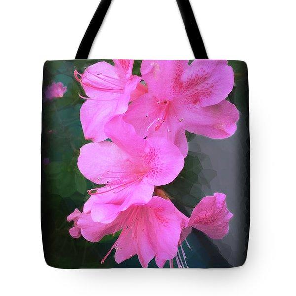 Azalea Spray Tote Bag by Ginny Schmidt