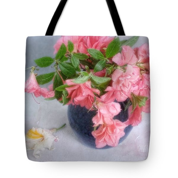 Azalea Time Tote Bag by Louise Kumpf
