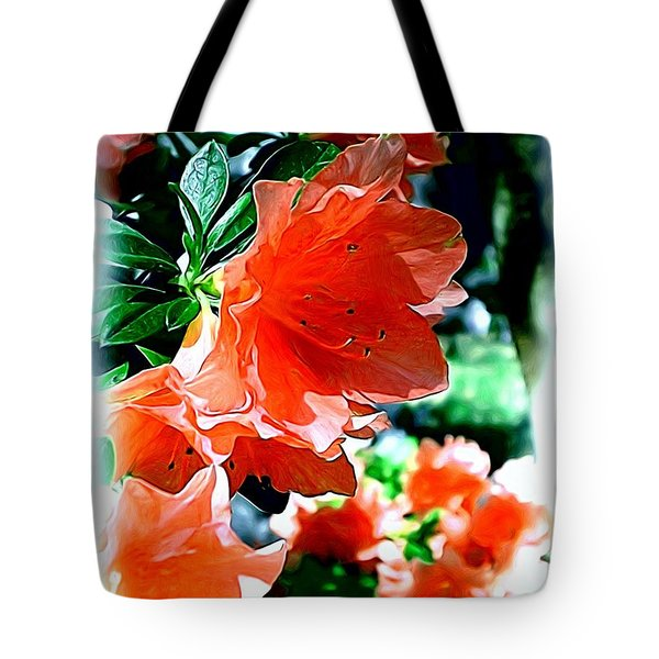 Tote Bag featuring the painting Azaleas In The Spring by Patricia Griffin Brett