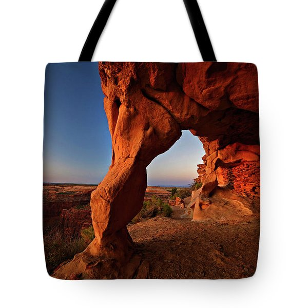 Tote Bag featuring the photograph Aztec Butte by Wesley Aston