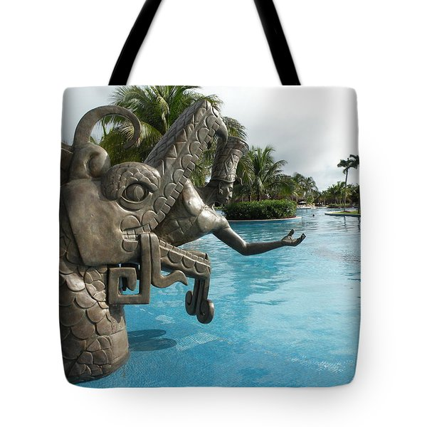 Tote Bag featuring the photograph Aztec by Dianne Levy