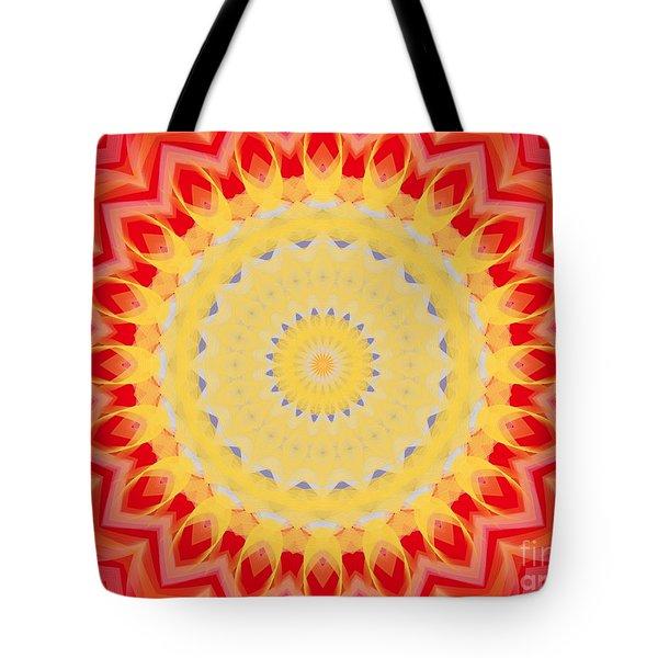 Aztec Sunburst Tote Bag by Roxy Riou