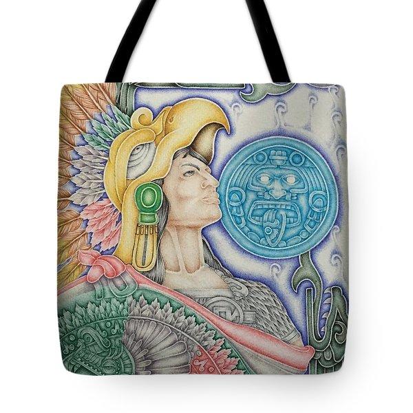 Aztec Warrior Tote Bag