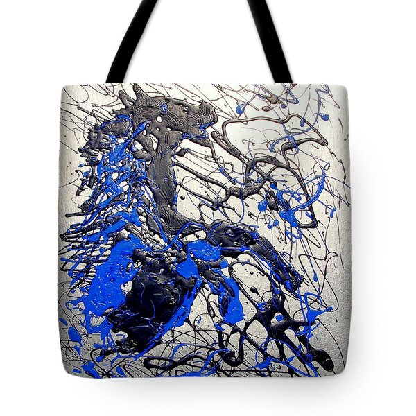 Tote Bag featuring the painting Azul Diablo by J R Seymour