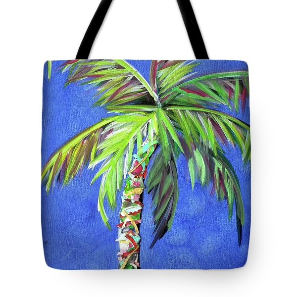 Azul Palm Tote Bag by Kristen Abrahamson