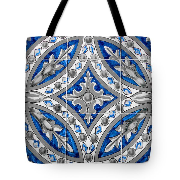 Azulejo - Blue Floral Decoration  Tote Bag