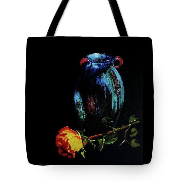 Azure Amphora Vase  Tote Bag
