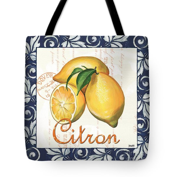 Azure Lemon 2 Tote Bag by Debbie DeWitt