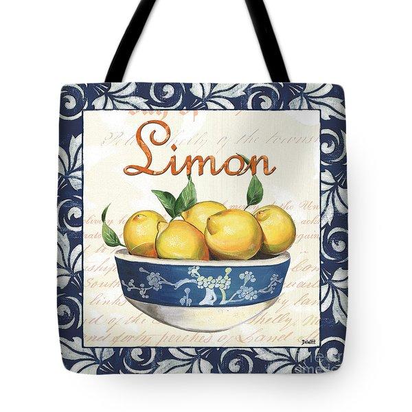 Azure Lemon 3 Tote Bag by Debbie DeWitt
