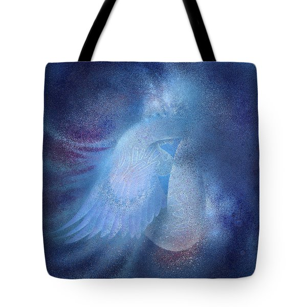 Tote Bag featuring the painting Azure by Ragen Mendenhall
