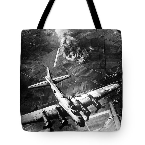 B-17 Bomber Over Germany  Tote Bag