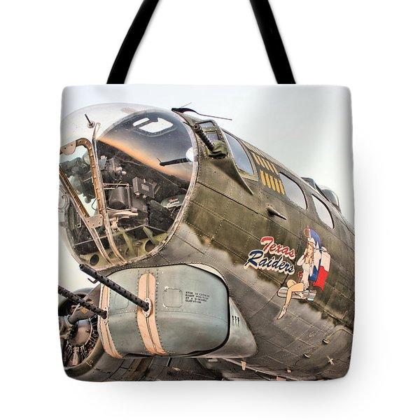 B-17 Texas Raiders Tote Bag by Michael Daniels