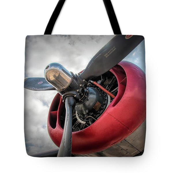 Tote Bag featuring the photograph B-24j Liberator Engine II by Kristia Adams