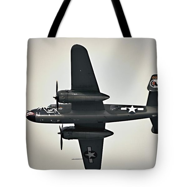 B-25 Fly By Tote Bag